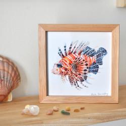 Le poisson lion orange